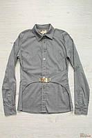 Рубашка серая с текстильным поясом (46 см)  No name 2125000469928
