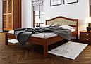 Ліжко півтораспальне з натурального дерева в спальню, дитячу м'яке узголів'я (Вільха) 140х200 Італія М ДОК, фото 4
