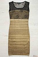 Платье вечернее золотисто-черное (44 см)  No name 2125000469621