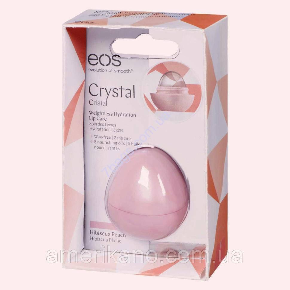 EOS Бальзам для губ *Гибискус и персик* Hibiscus Peach Crystal