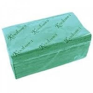 Полотенце бумажное зеленое 1 слой ZZ сложение 200 шт/уп Кохавинка