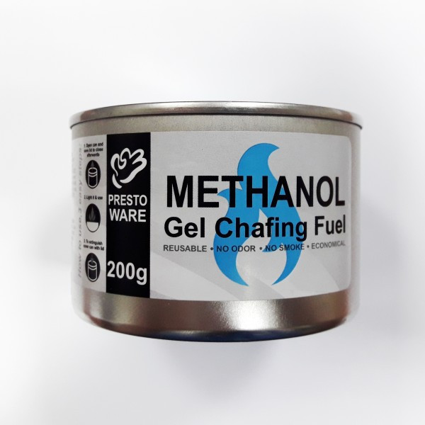 Гель-топливо 200 г. без фителя для чафиндиша и фондю метанол PrestoWare