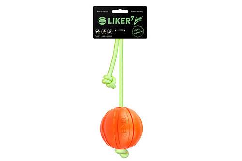 Liker Lumi 7 - мячик для щенков и собак мелких и средних пород со шнуром, который светится темноте