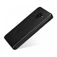 Кожаный чехол (книжка) TETDED для Samsung A530 Galaxy A8 (2018) Черный / Black
