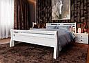 Ліжко півтораспальне з натурального дерева в спальню, дитячу 140х200 Ретро ДОК, фото 5