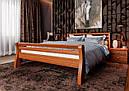 Ліжко півтораспальне з натурального дерева в спальню, дитячу 140х200 Ретро ДОК, фото 6