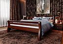 Ліжко півтораспальне з натурального дерева в спальню, дитячу 140х200 Ретро ДОК, фото 2