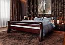 Ліжко півтораспальне з натурального дерева в спальню, дитячу 140х200 Ретро ДОК