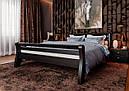 Ліжко півтораспальне з натурального дерева в спальню, дитячу 140х200 Ретро ДОК, фото 4
