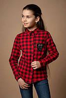 Детская рубашка в клетку для девочки