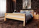 Ліжко півтораспальне з натурального дерева в спальню, дитячу 140х200 Ретро ДОК, фото 9