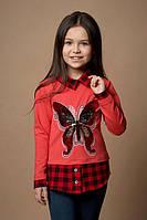 Обманка рубашка детская для девочки