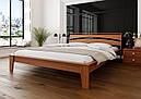 Ліжко півтораспальне з натурального дерева в спальню, дитячу 140х200 Венеція ДОК, фото 3