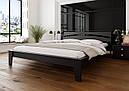 Ліжко півтораспальне з натурального дерева в спальню, дитячу 140х200 Венеція ДОК, фото 5