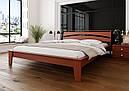 Ліжко півтораспальне з натурального дерева в спальню, дитячу 140х200 Венеція ДОК, фото 6
