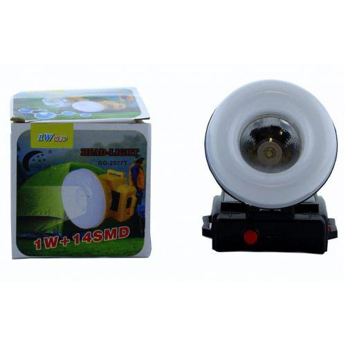 Ліхтарик налобний ліхтар з сонячною панеллю GG-2577T XPE COB