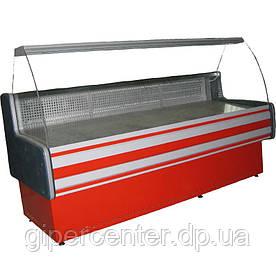 Холодильная витрина Айстермо ВХСК ПАЛЬМИРА 1.3 (0...+8°С, 1300х820х1200 мм, гнутое стекло)
