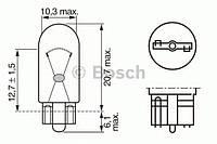 Лампа W5W 12V 1987302206 BOSCH