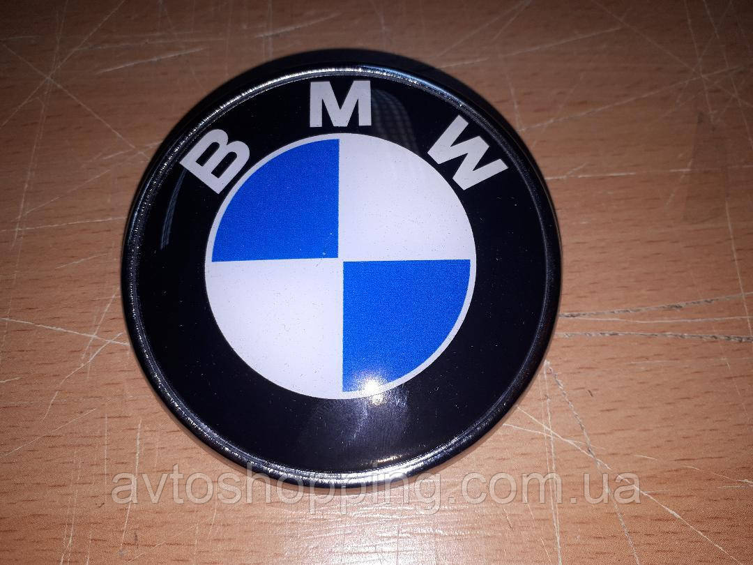 Значок эмблема на капот, багажник BMW 74 мм!