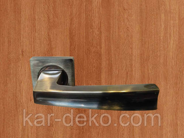 фото Ручка дверная на розетке Кедр 1 kar-deko.com