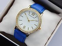 Женские наручные часы Michael Kors, золотистого цвета, белый циферблат, на кожаном ремешке, со стразами, фото 1