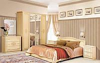 Спальня комплект з ДСП/МДФ Флоренція 4Д Світлий венге Світ Меблів