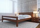 Ліжко півтораспальне з натурального дерева в спальню, дитячу 140х200 Елегант ДОК, фото 2