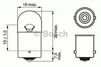 Лампа P10W 12V 1987302203 BOSCH