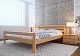 Ліжко півтораспальне з натурального дерева в спальню, дитячу 140х200 Елегант ДОК, фото 6