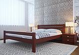 Ліжко півтораспальне з натурального дерева в спальню, дитячу 140х200 Елегант ДОК, фото 7
