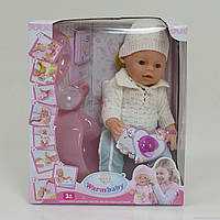 Пупс функциональный Warm baby 8006 E  с аксессуарами