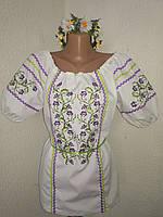 Женская нарядная вышитая блузка вышиванка украинская