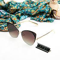Брендовые очки женские Poloroid Bulgari коричневые