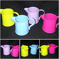 Кувшин металлический разных цветов, выс. 6.5 см., 35/25 (цена за 1 шт. + 10 гр.)