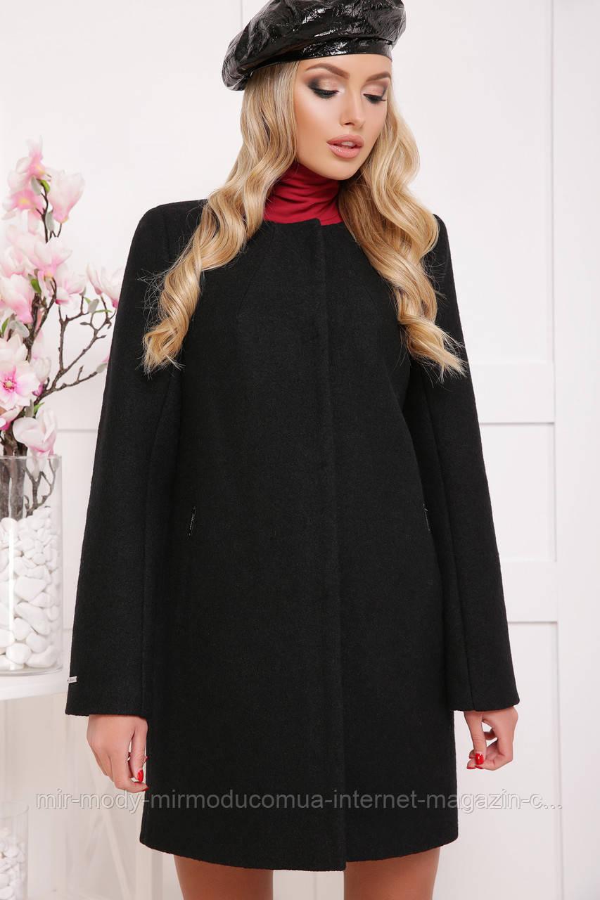 ПАЛЬТО П-337Ш черное пальто из шерсти гм