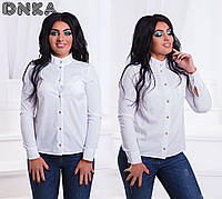 Блузка- рубашка белого цвета
