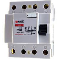 Устройство защитного отключения EKF 4Р 63А/30мА электронное