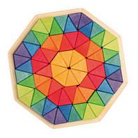 """Мозаика деревянная объемная """"Октагон"""", 72 треугольника Grimm's (43280), фото 1"""