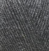 Нитки Alize Lanagold Fine 521 Темно-серый меланж