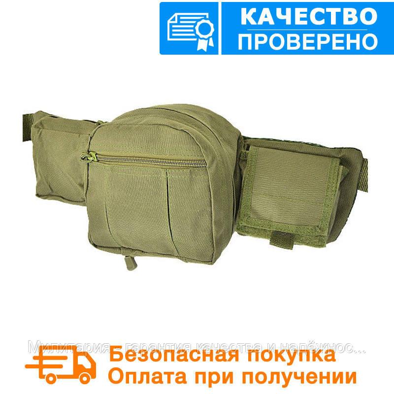 """Тактическая сумка-пояс Mil-tec  оригинал """"FANNY PACK"""" (Olive) (13514001)"""