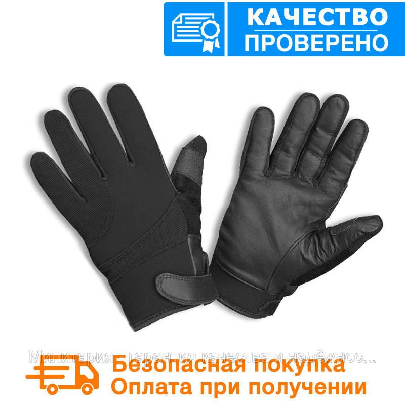 Тактические перчатки MIL-TEC Neopren / Kevlar порезостойкие черные Black (12524002)