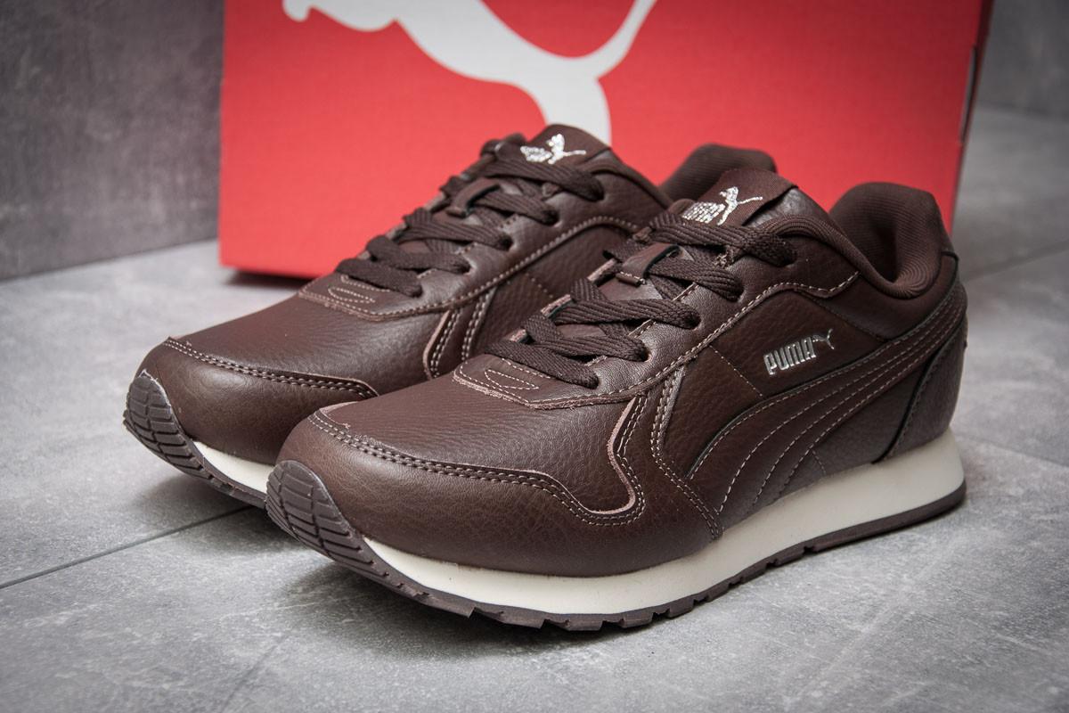 Кроссовки мужские  Puma  Runner, коричневые (11944),  [  44 45  ]