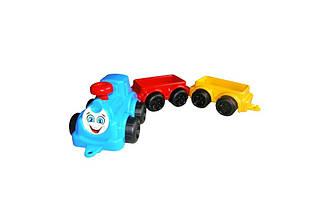 Паровоз с вагонами Максик,  синий «ТехноК» (2339)