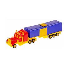 Мини трак Автотрейлер, красный с синим «Maximus» (5168)
