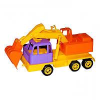 Игрушечные машинки и техника «Maximus» (5172) Экскаватор Мини карго, желто-сиреневый