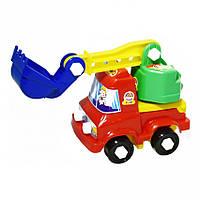 Игрушечные машинки и техника «Lico Toys» (Л-004-2) Экскаватор - конструктор Кузя -Техник