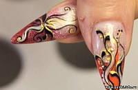 дизайн ногтей цветными гелями. видео-урок