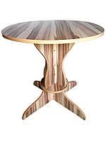 Круглый обеденный стол диаметром столешницы 90 см