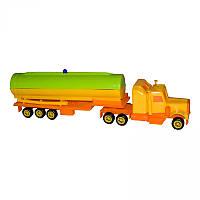 Игрушечные машинки и техника «Maximus» (5165) Мини трак Цистерна, желто-оранжевый