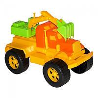 Игрушечные машинки и техника «Maximus» (5160) Экскаватор Трак, желто-оранжевый